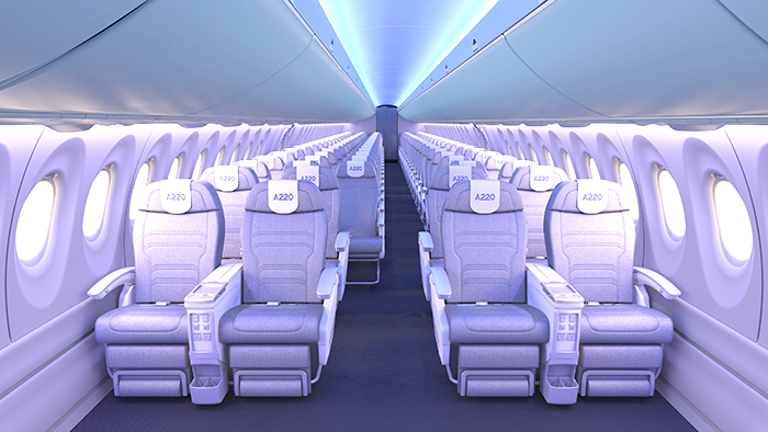 A220 cabin overview